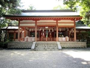 売太神社の拝殿