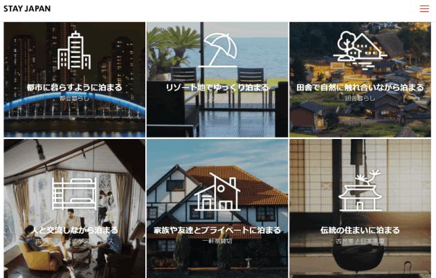 民泊予約サイト「STAY JAPAN」