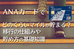 ANAカードでどのくらいマイルがたまる?