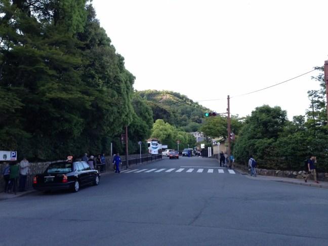 京都 金閣寺前の写真