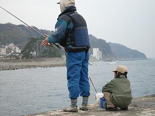 釣り風景(祖父と孫)