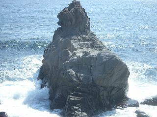 ライオン岩 真後ろ