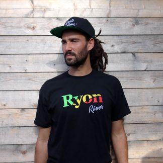 ryon-t-shirt-noir-rever-vert-jaune-rouge-homme-modele