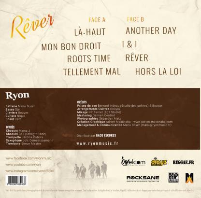 Vinyle Ryon Rêver 2016 Verso