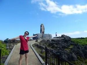辺戸岬で記念写真