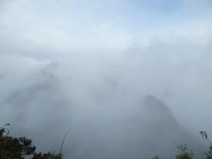 マチュピチュ山からの景色