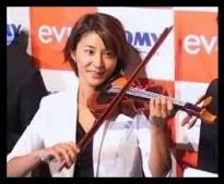 高嶋さち子,バイオリニスト,若い頃