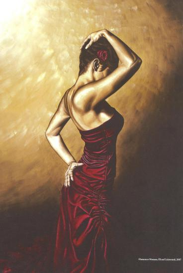Anda Magazine - February 2008: Flamenco Woman oil painting by Richard Young