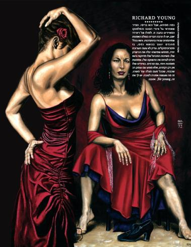 Flamenco Woman and Portrait of a Dancer oil paintings by Richard Young