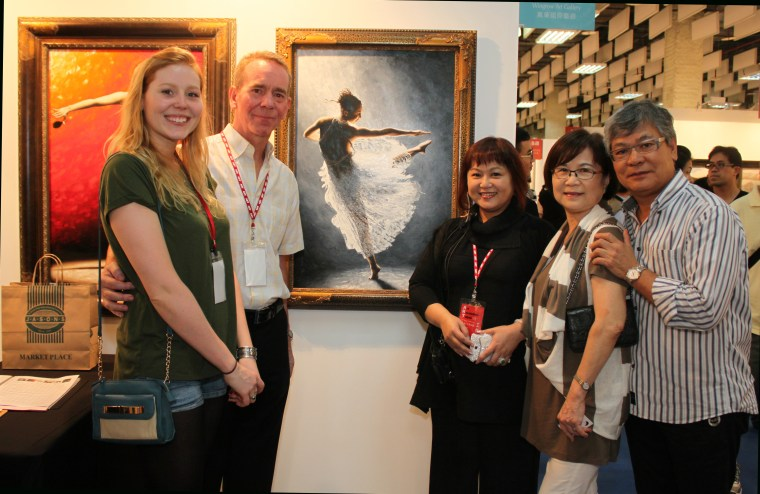 Solitaire being exhibited and purchased at Art Revolution Taipei, Taiwan 2013