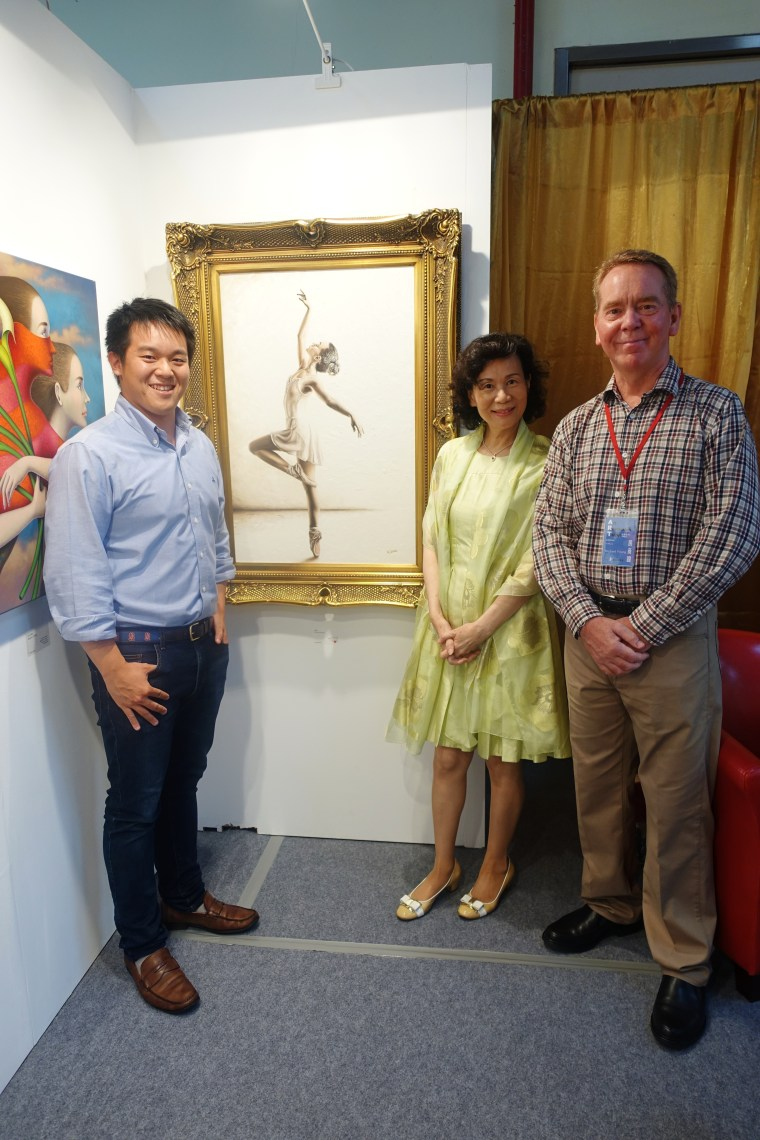 Genteel Dancer being exhibited and purchased at Art Revolution Taipei, Taiwan 2015