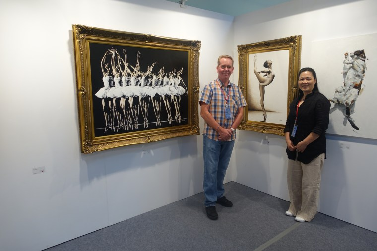 Musing Dancer being exhibited and purchased at Art Revolution Taipei, Taiwan 2015