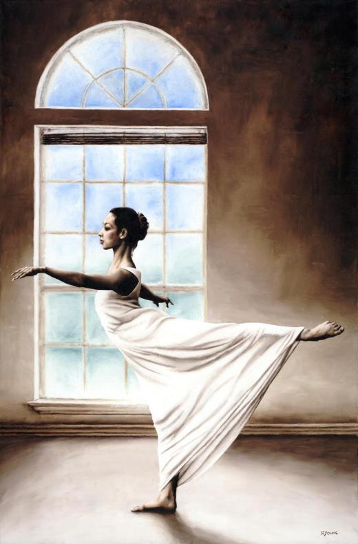 Dancers - Modern Dance Gallery. Divine Grace - Caitlin Lockwood. Fine art original oil painting on a 91cm x 61cm stretched canvas created in 2009 using a knife. Produced in cooperation with Caitlin and Dan Fisico. Original available. Framed = £1,850