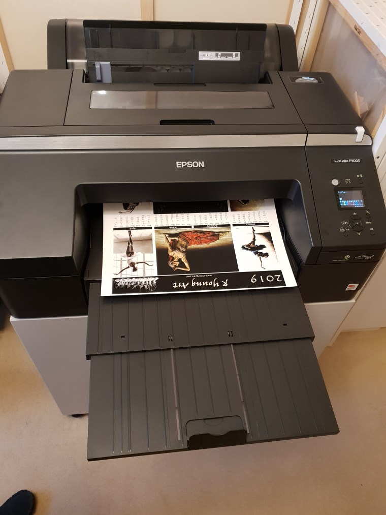 My Epson Sure Colour P-5000 printer. All prints are produced at a high resolution 2880 x 1440 dpi, 98% pantone, using Epson's UV resistant 10 colour 100% pigmented inks guaranteed lightfast for 75 years.