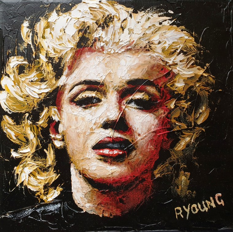 2019: Contemporary Art Fairs Prince's Trust charity oil painting - Some Like it Hot 1 - Marilyn Monroe
