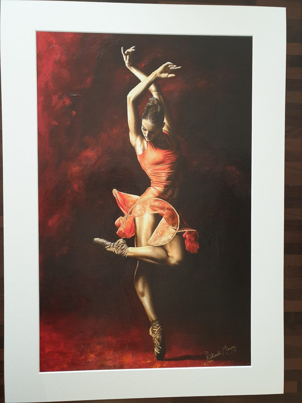 The Passion of Dance Hand Embellished Ltd Edition Print - Mounted