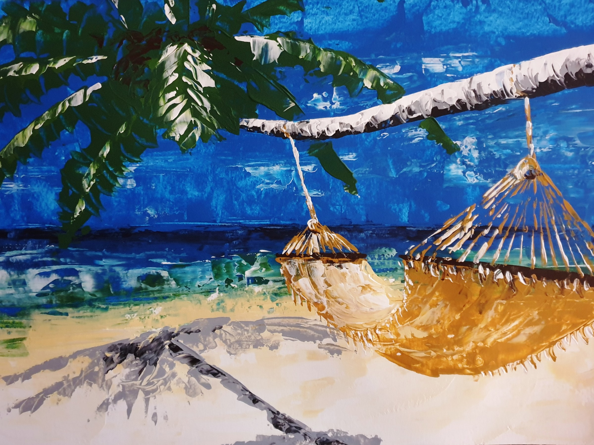 Art Event - Life's a Beach - Here's an example of what a student created