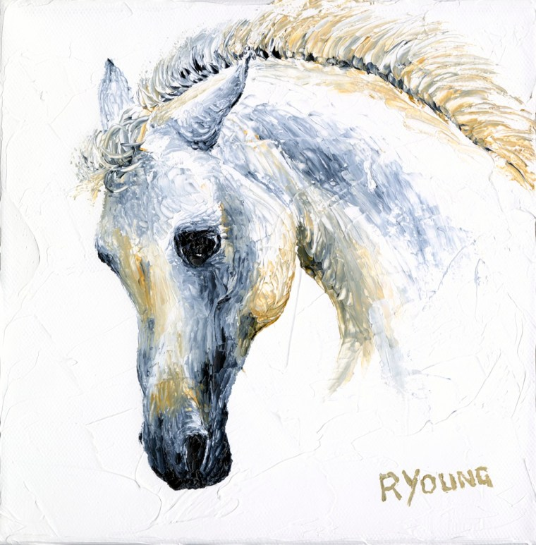 2020: Contemporary Art Fairs Prince's Trust charity oil painting - A beautiful bottle nosed Arabian Horse