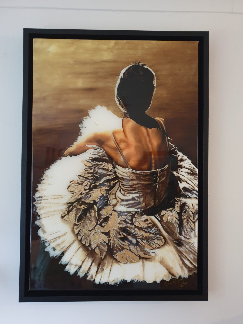 Waiting in the Wings ltd edition hand embellished resin print framed - 2