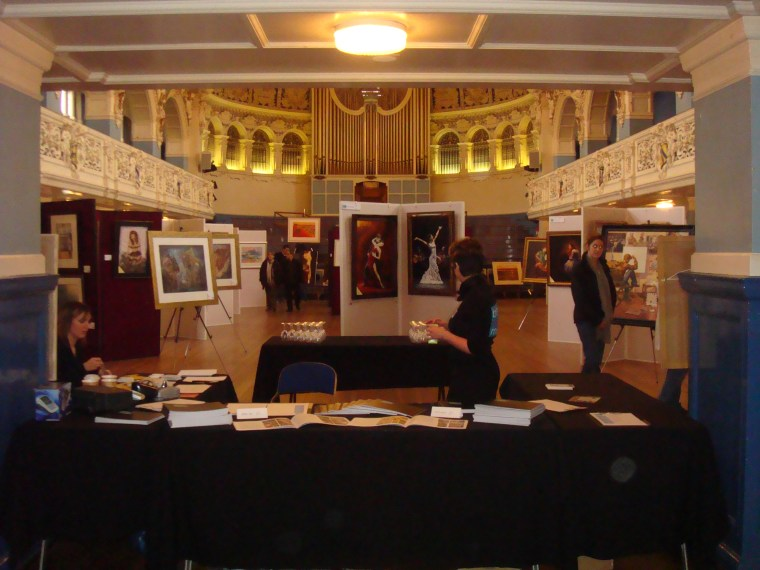 2008 UK Fine Arts exhibition at Oxford Town Hall