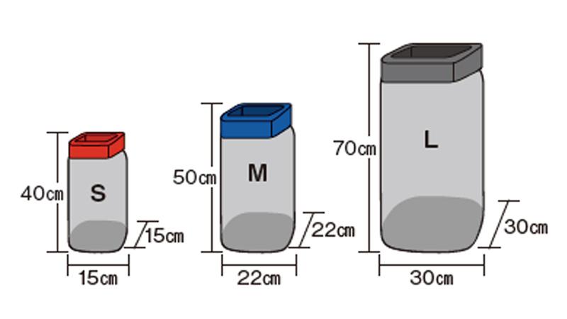 モンベルメッシュバッグのサイズ表