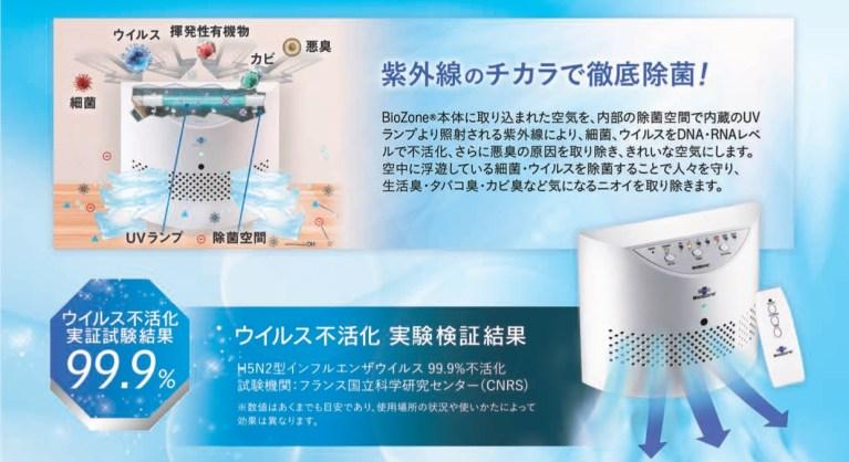 空気除菌機 オゾン脱臭機