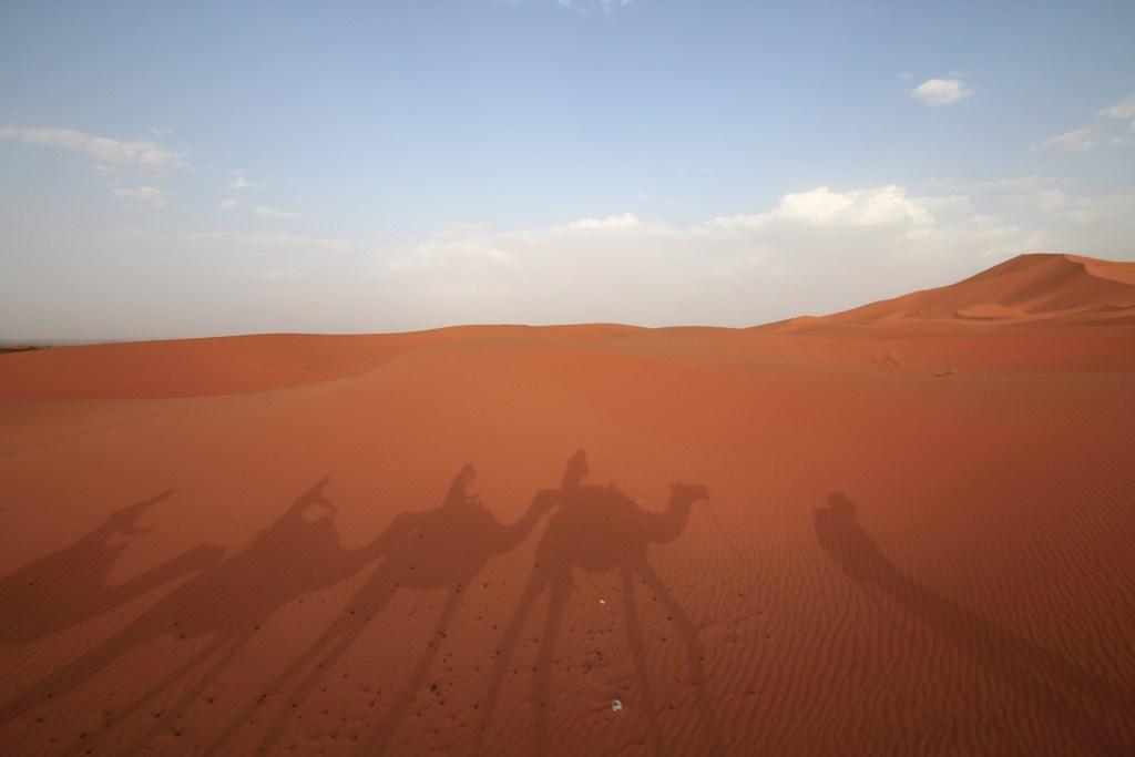 サハラ砂漠 夕日