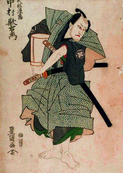 江戸中村座 初代豊国画