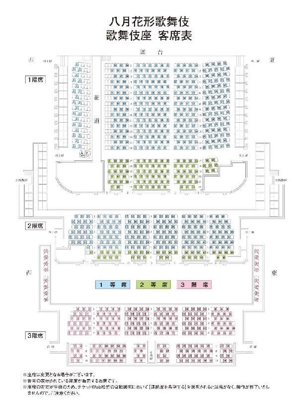 八月花形歌舞伎座席表