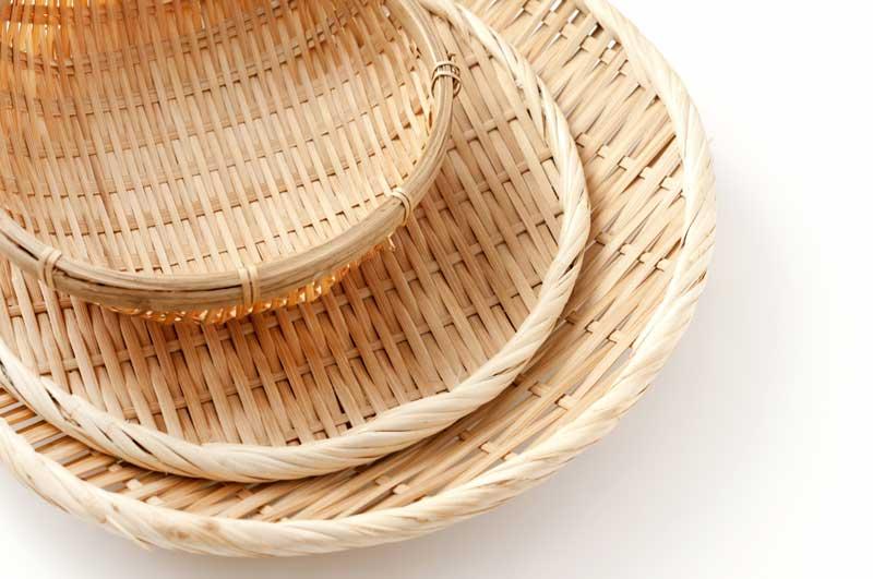 竹ざる・竹かごの使い方と選び方・お手入れ法