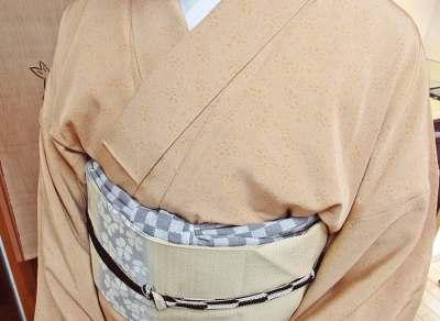 江戸小紋単衣の着こなし