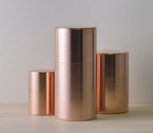 銅・真鍮の茶筒