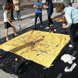ARTE PARA NIÑOS: Una propuesta para acercar Jackson Pollock y el Expresionismo abstracto a vuestros chavales y que no se les olvide nunca