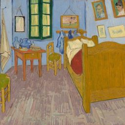 La habitación en Arlés de Vincent van Gogh