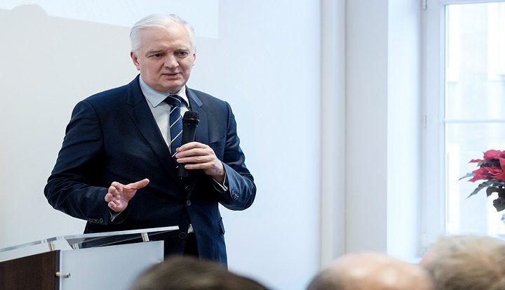 Jarosław Gowin podczas otwarcia Biura Rzecznika Małych i Średnich Przedsiębiorców