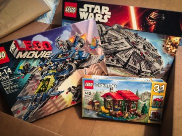 Box of LEGO sets