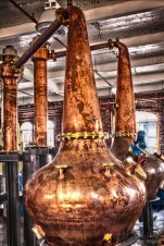 The new copper stills just imported from Scotland