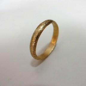 Half Round Wedding Band, 14K Yellow Gold