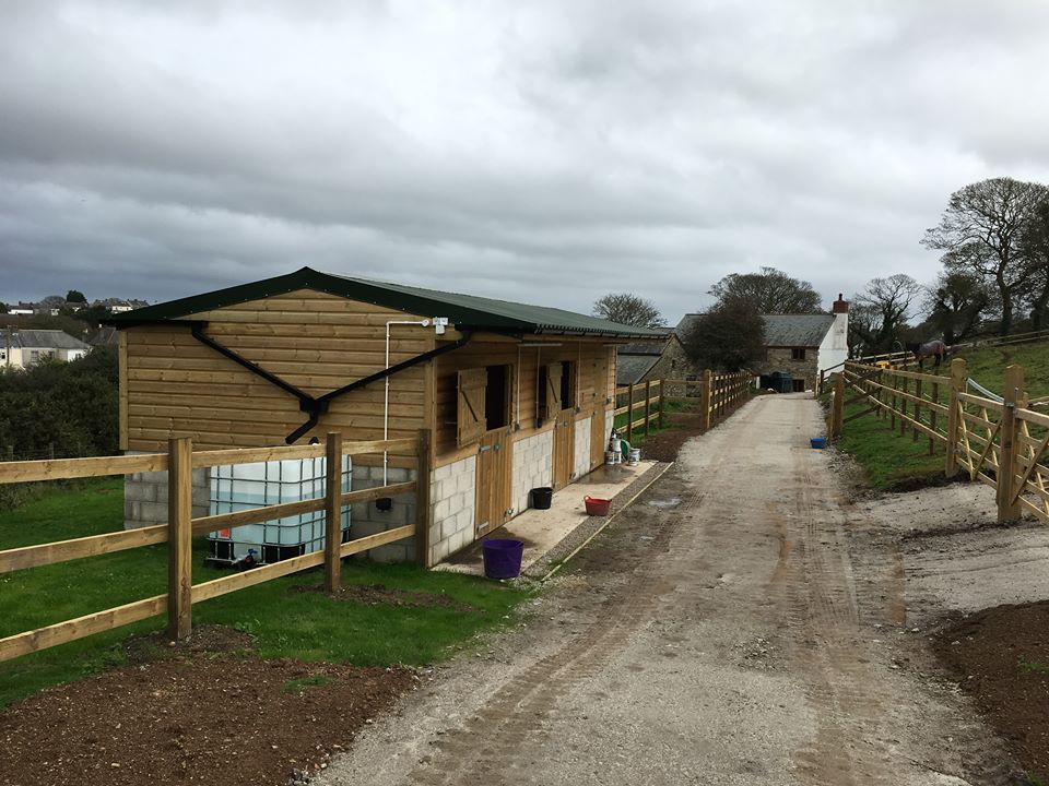 Stables Build by RZT LTD Contractors Cornwall