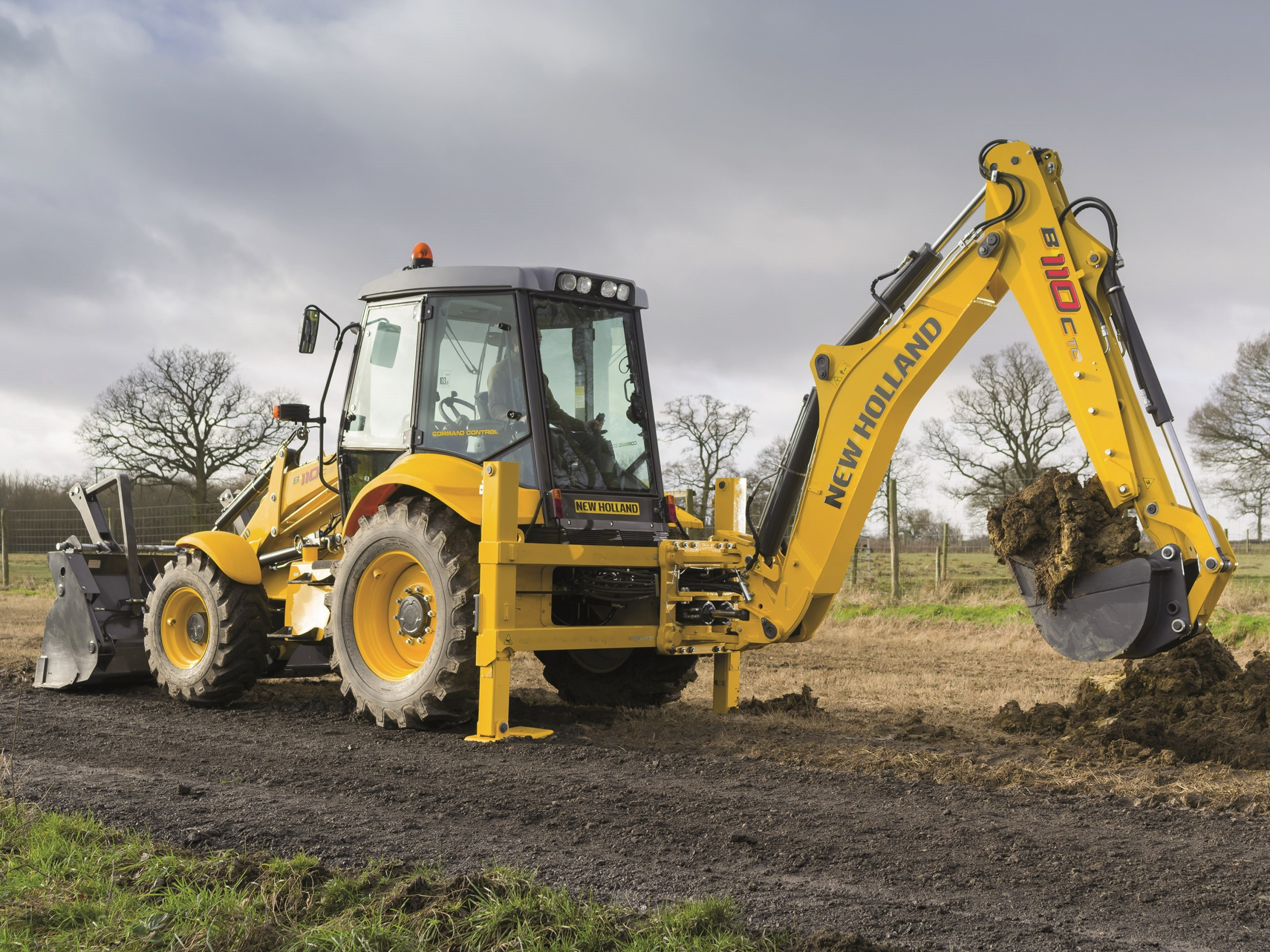 New Holland Digger Hire Cornwall