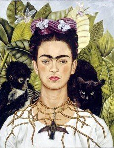 Frida Kahlo - Autoportret z cierniowym naszyjnikiem