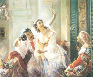 Rzym karnawał - zabawa w walkę o ogień