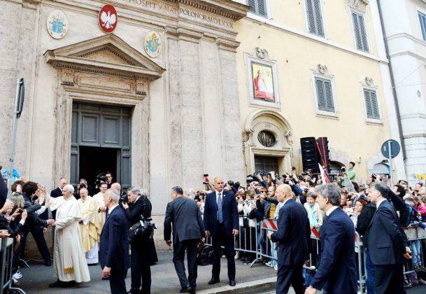 Kościół polski w Rzymie - wizyta papieża Franciszka