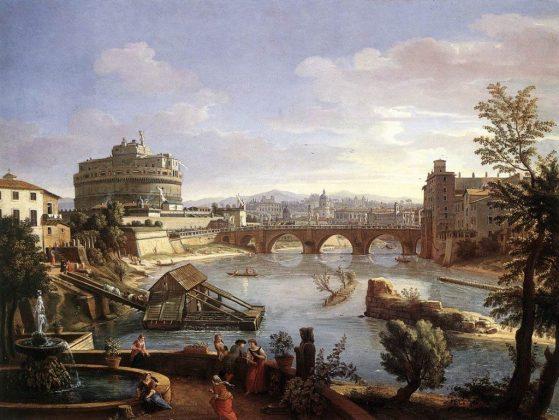 Tyber w XVII wieku - - obraz Gaspara van Wittela (1656–1736)