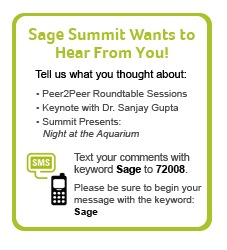 sage summit text feedback