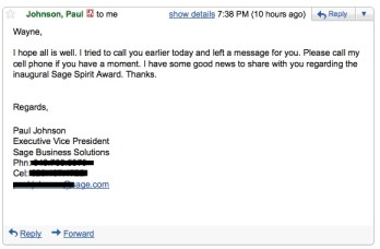 sage spirit award schulz consulting
