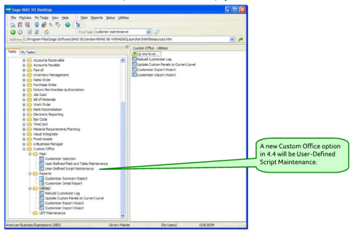 mas90 or mas 200 business objects interface