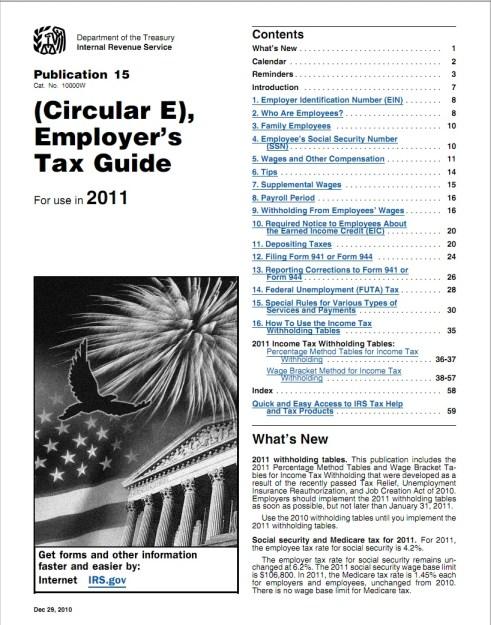 IRS Circular E Publication 15 Tax Table Guide 2011.jpg