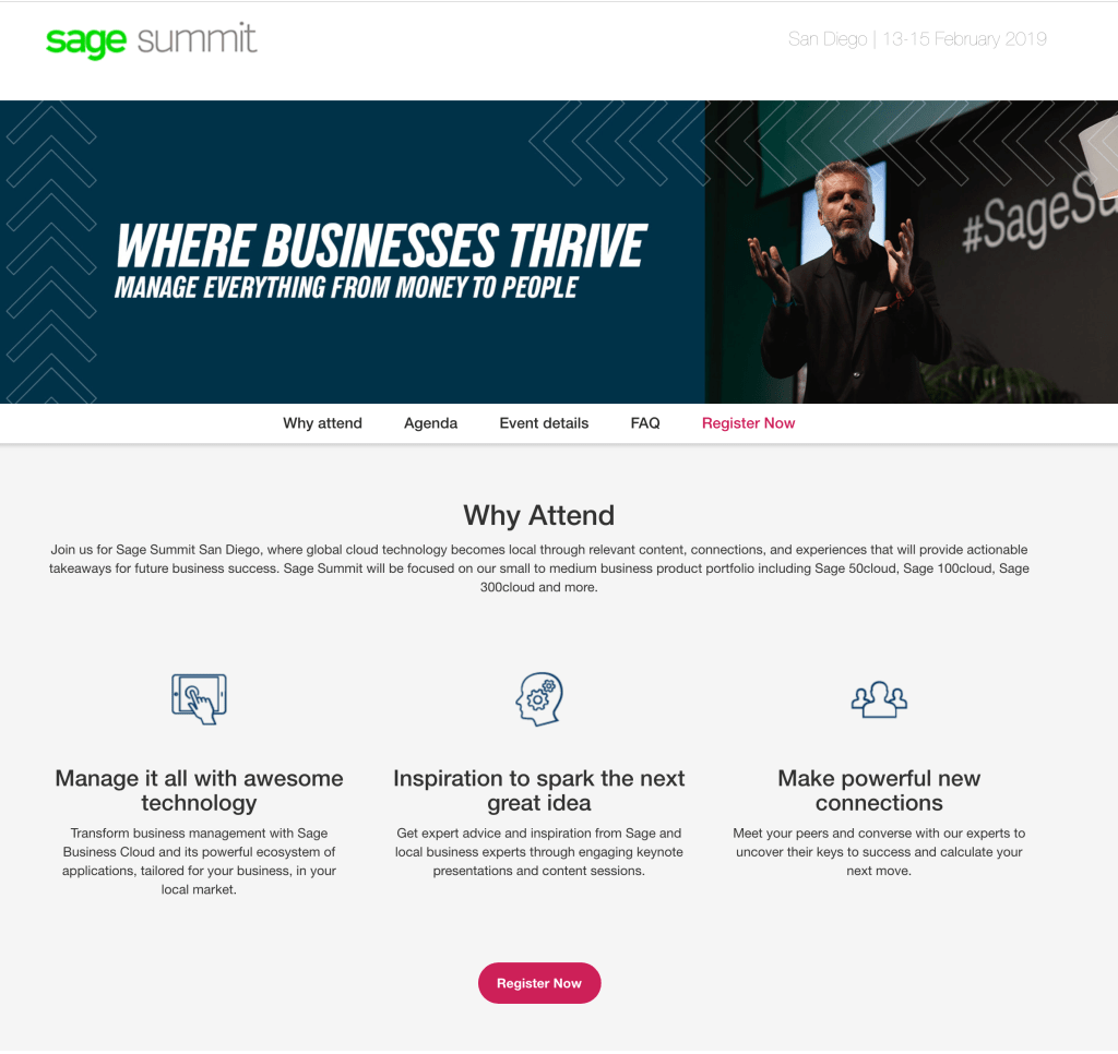 Sage Summit 2019 - San Diego