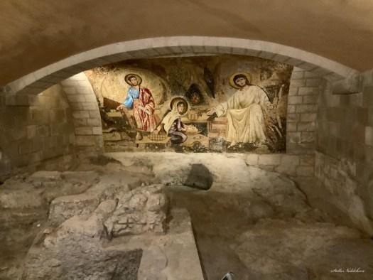 Vestiges de la maison de la Sainte Famille à Nazareth